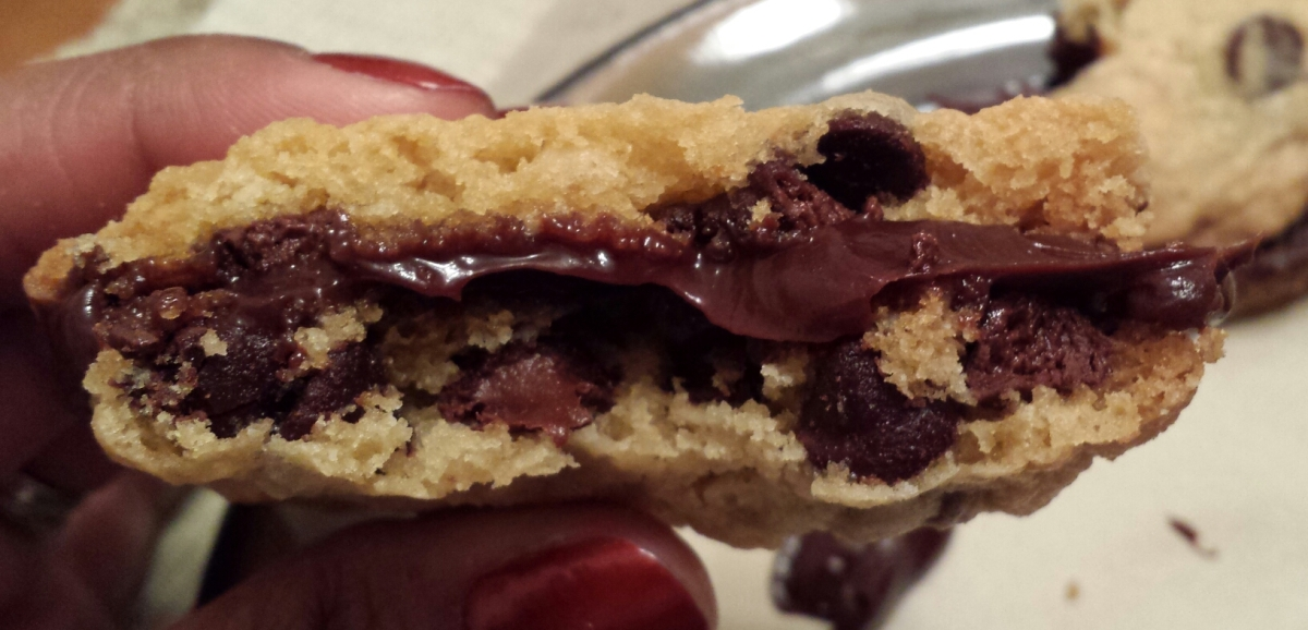 Ultimate chocolate chip cookie sandwich