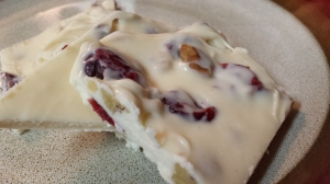White chocolate, cranberry and walnut bark Image by Edible Reflections