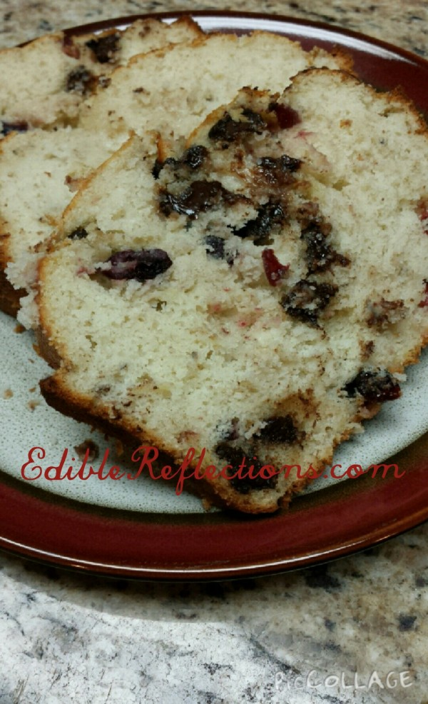 Banana Cranberry Chocolate Chip loaf by Edible Reflections