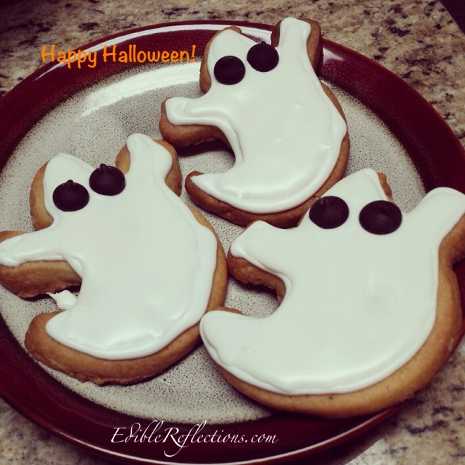 Ghost sugar cookies