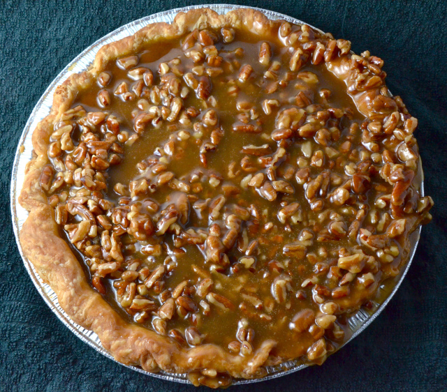 Pumpkie Pie with Pecan Praline Topping by I Sing In The Kitchen