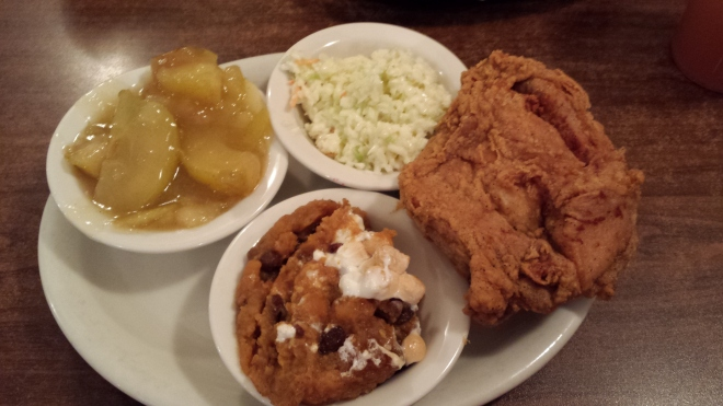 Fried chicken with 3 sides - 109 Family Restaurant
