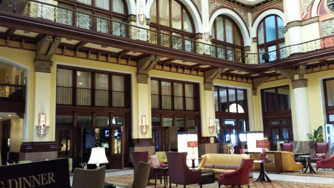 View from the 3rd floor (lobby) - Union Station Hotel Nashville