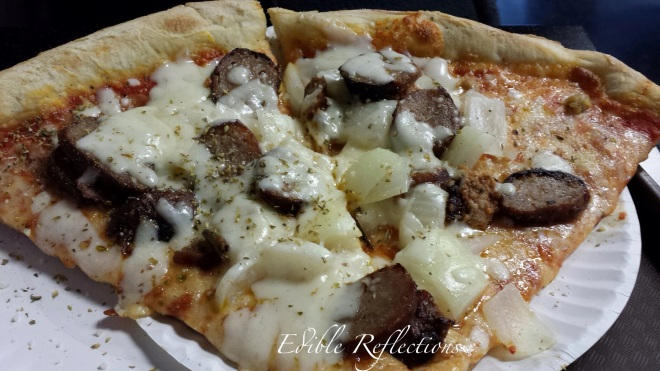 Sausage and onion pizza from Joey's House of Pizza - Nashville
