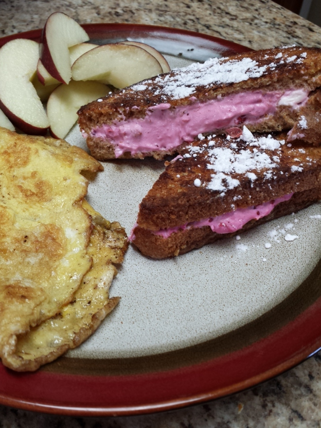 Stuffed French toast with cranberry cream cheese