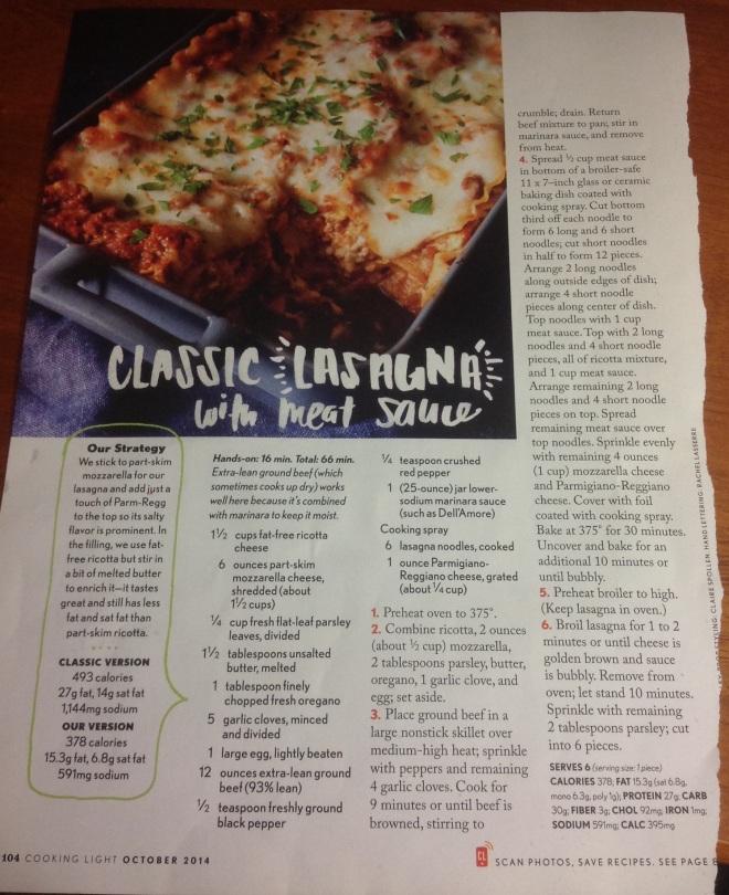 Classic Lasagna with meat sauce (inspiration)