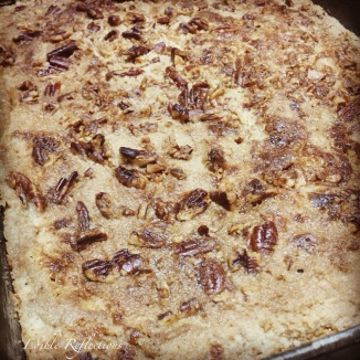 Pumpkin Pecan Crunch just out of the oven
