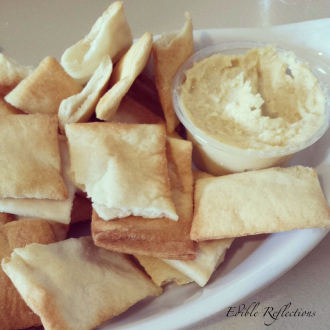 Pita chips with hummus - Sonny's Music Cafe & Creperie