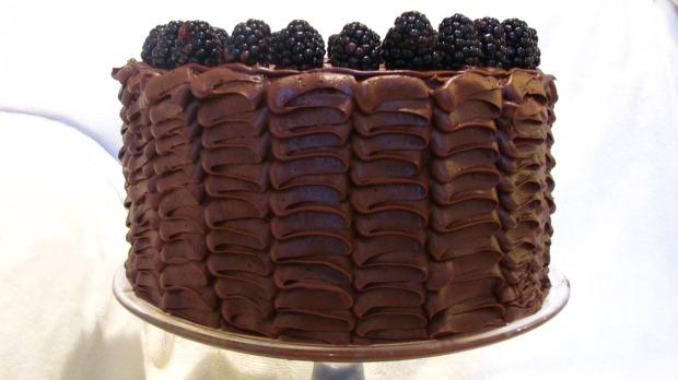 Ruffled Chocolate Cake with Chocolate Fudge Icing and Birthday Celebrations by Mint Tea & Honey