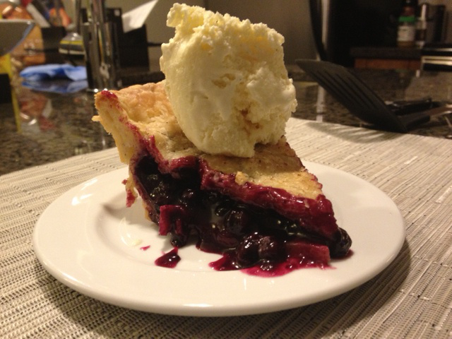 Mom's Blueberry Pie by Brenna is Baking
