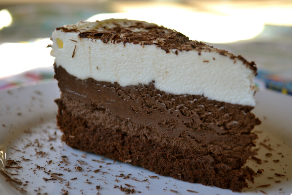 Triple Chocolate Mousse Cake by The Crimson Crave