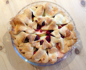 Apple, Raspberry and Ginger Pie by Hermione's Pantry