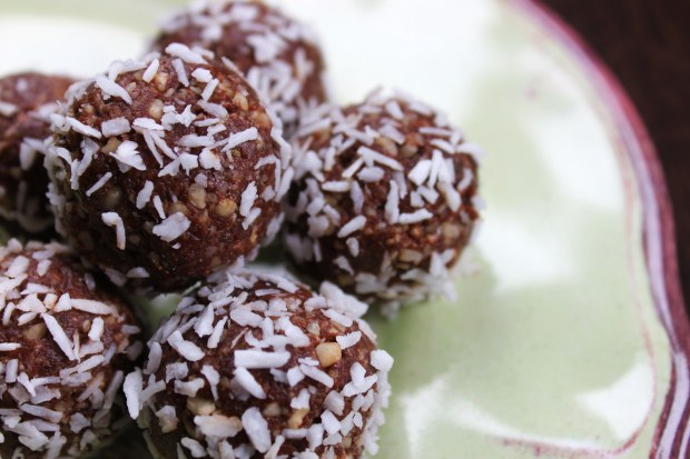Chocolate Hazelnut Bites by Nourish Me Mama