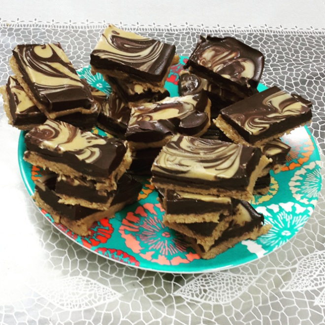 No bake Peanut Butter Bars by Rutu's Cook Book