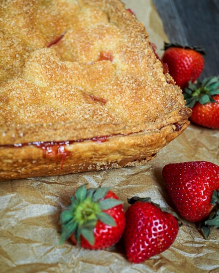 Strawberry Slab Pie by Hostess at Heart