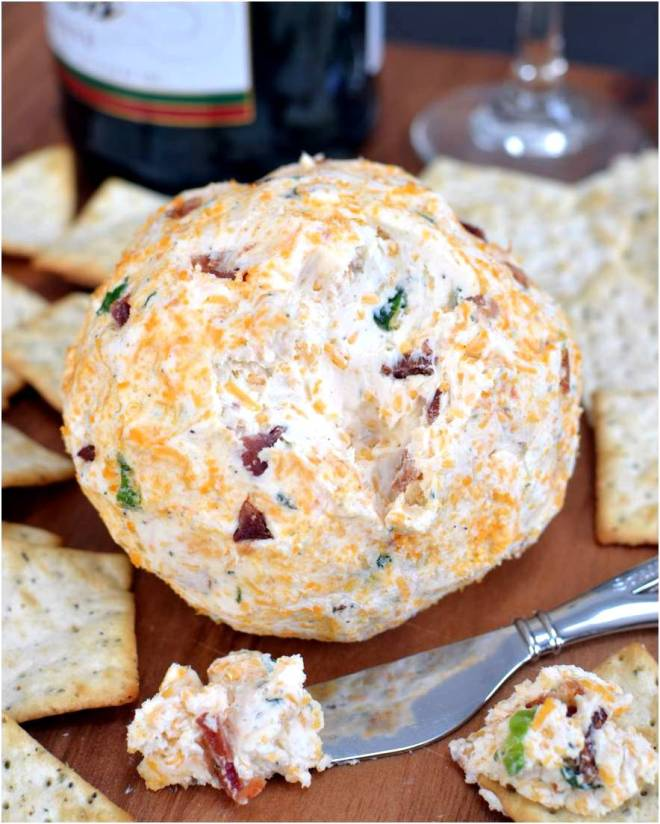 Bacon Ranch Cheddar Cheeseball by The Cozy Cook