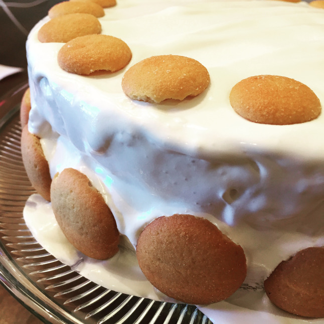 Banana Pudding Cake by This Baking Beauty