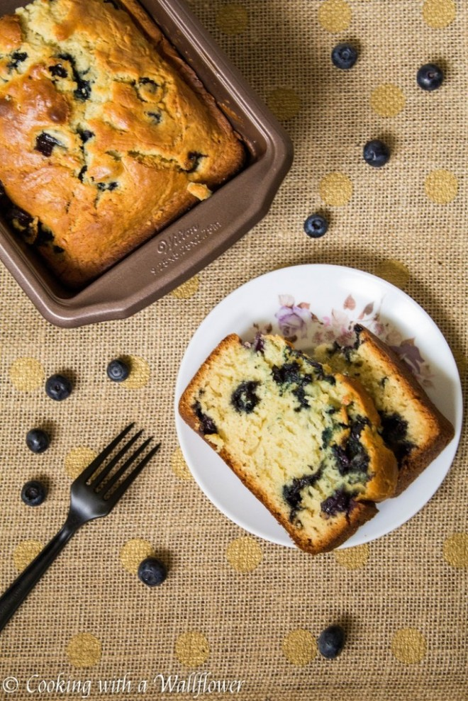 Blueberry Bread by Cooking With a WallFlower