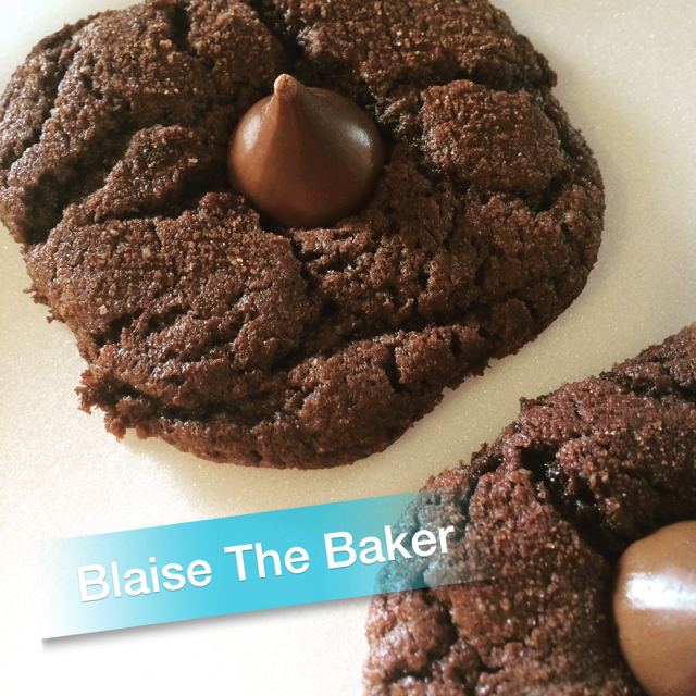 Chocolate Chocolate Kiss Cookies by Blaise the Baker