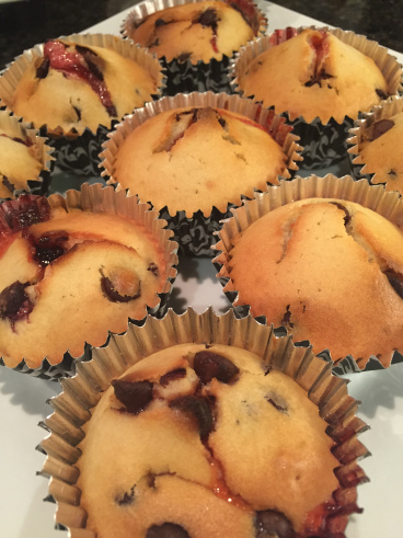 Chocolate Raspberry Muffins by Random Food I Make