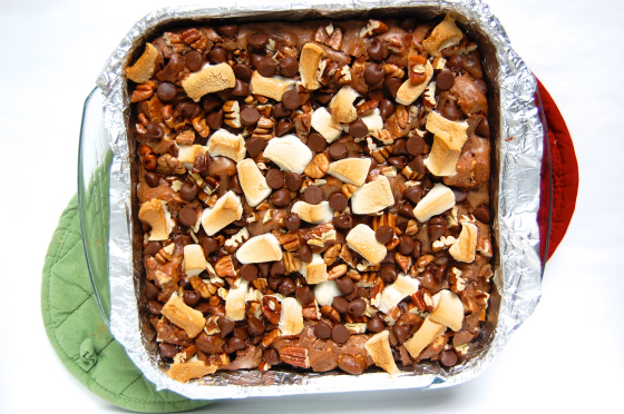 Rocky Road Fudge Brownies by The Little Blue Mixer