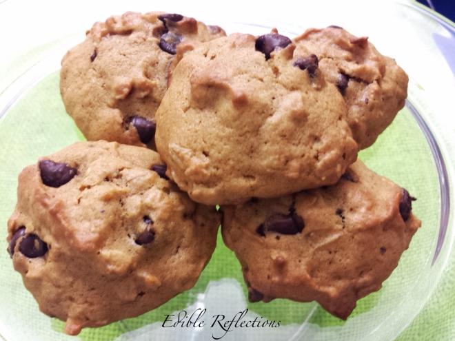 Pumpkin Chocolate Chip & Oatmeal Cookies