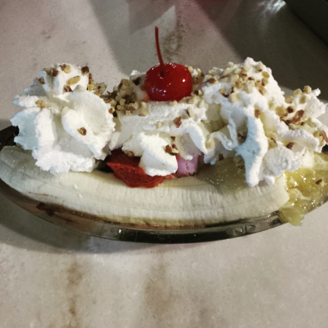 Banana Split from Ghirardelli (Boston)