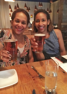 Cheers with my wonderful aunt. - Opa Restaurant Philadelphia