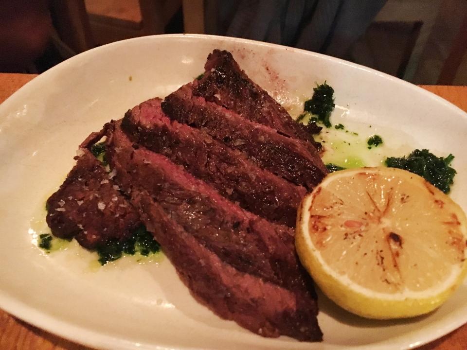 Hanger Steak -Opa Restaurant Philadelphia