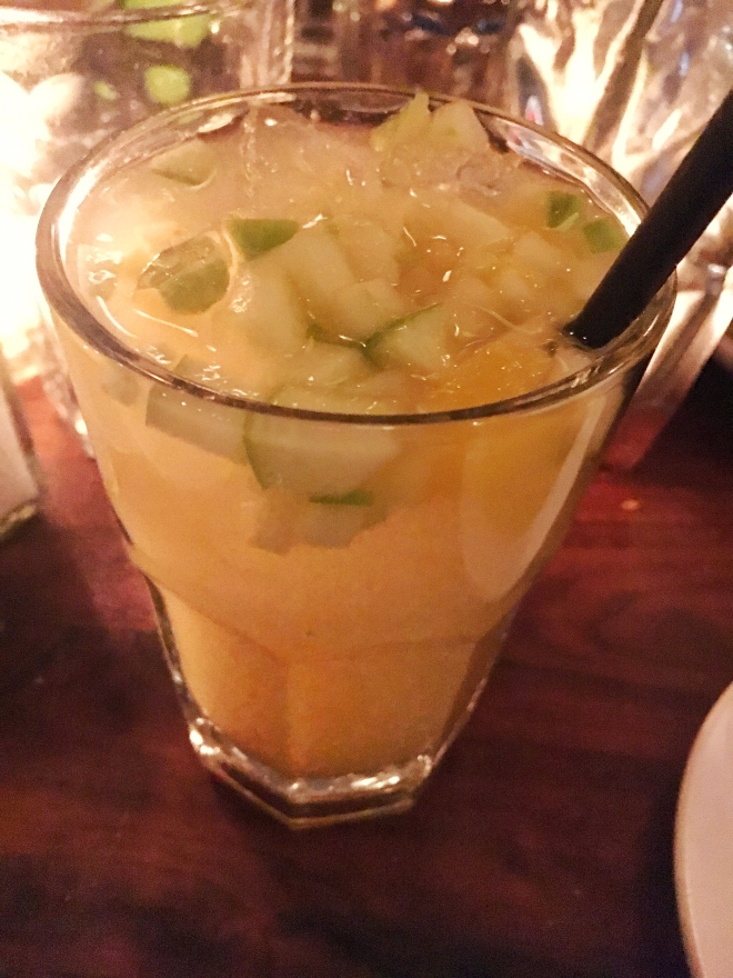 White Sangria - Barcelona Wine Bar. Picture by Edible Reflections.
