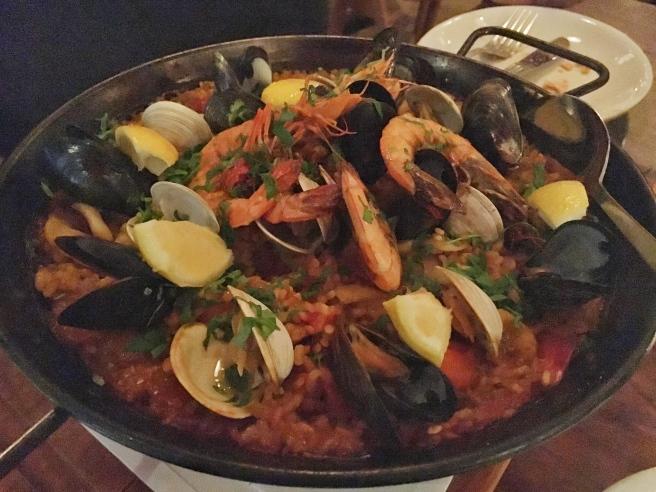 Seafood Paella - Barcelona Wine Bar