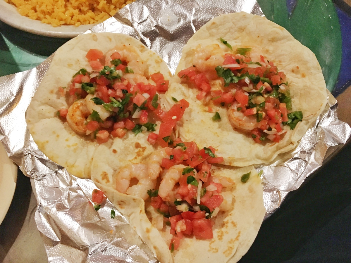 Shrimp tacos - The Hacienda Mexican Restaurant