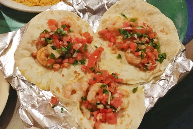 Shrimp tacos - The Hacienda Mexican Restaurant