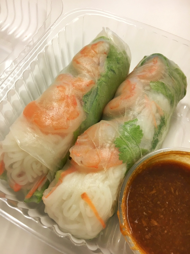 Shrimp spring rolls from Laovin It
