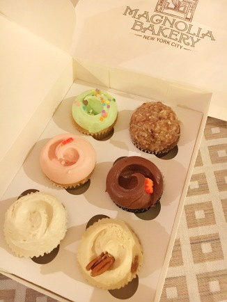 Assorted cupcakes from Magnolia Bakery - Penn Station