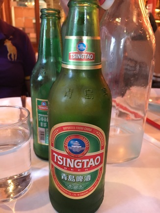 Tsingtao beer at Shanghai Cuisine Bar & Restaurant