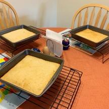 Cake pans cooling